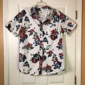 Men's On the BYAS Button Down Floral Shirt Size M